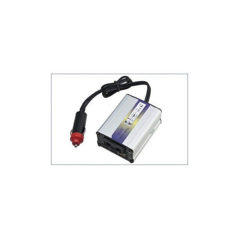 Transformador inverter 12v 220v 200w tienda de art culos for Transformador 12v a 220v