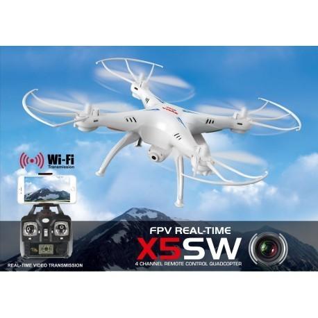 Drone Cuadricoptero Syma X5SW Camara HD Wifi Imagenes a Tiempo Real