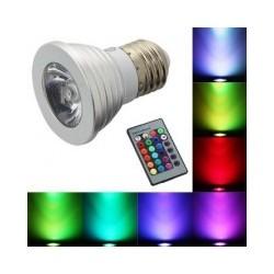 Bombilla LED RGB con Mando a Distancia
